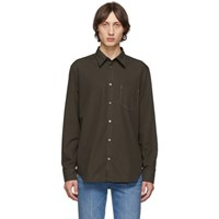 Maison Martin Margiela Brown Cotton Shirt