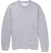 Derek Rose Devon Loopback Cotton Jersey Sweatshirt Gray