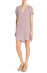 Lush Women's Split Neck Shift Dress Cloud Grey
