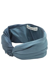 Eugenia Kim Malia Satin Headband Blue