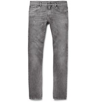 Dolce And Gabbana Skinny Fit Distressed Stretch Denim Jeans Gray