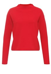 Hallhuber Turtle Neck Jumper Red