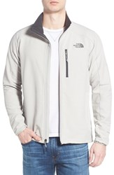 The North Face Men's 'Apex Pneumatic' Full Zip Jacket High Rise Grey Texture