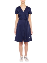 Ted Baker Colour By Numbers Advina Crossover Dress Navy