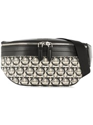 Salvatore Ferragamo Gancini Print Belt Bag Black