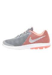 Nike Performance Flex Experience Run 6 Competition Running Shoes Cool Grey Metallic Silver Lava Glow White
