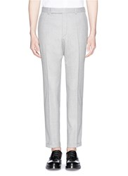 Carven Virgin Wool Tapered Pants Grey