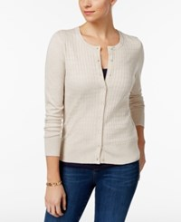 Charter Club Textured Cardigan Only At Macy's Heather Brioche Combo