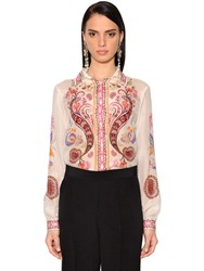 Etro Printed Silk And Cotton Voile Shirt