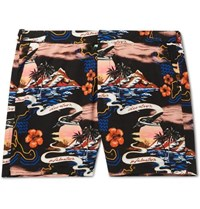 Stella Mccartney Long Length Printed Swim Shorts Black