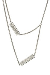 Raf Simons Layered Silver Necklace