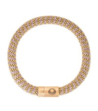 Caro Gold Plated Woven Bracelet Female Pink