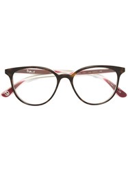 Paul Smith 'Lea' Glasses Brown