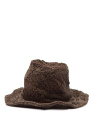 By Walid Firas French Crochet Cotton Hat Brown