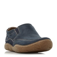 Hush Puppies Sway Nubuck Slip On Loafer Shoes Blue