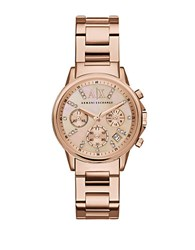Armani Exchange Rose Goldtone Chronograph