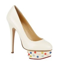 Charlotte Olympia Dolly Studded Pump White