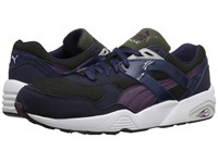 Puma R698 Modern Heritage Peacoat Forest Night Italian Plum Men's Shoes Gray