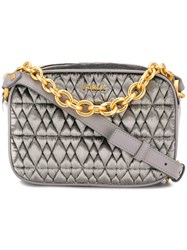 Furla Quilted Crossbody Bag Grey