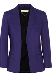 Vanessa Bruno Candela Stretch Cotton Blazer Blue