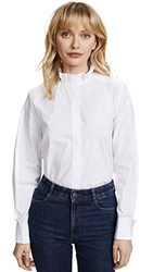 Protagonist Pleated Collar Shirt White
