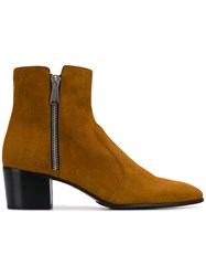 Balmain Anthos Ankle Boots Brown