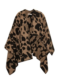 Burberry Animal Print Wool And Cashmere Blend Wrap