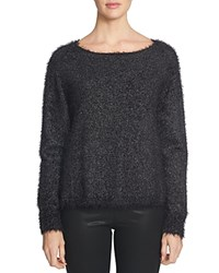 1.State Sparkle Eyelash Sweater Rich Black
