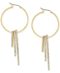 Bcbgeneration Gold Tone Pave Bar Hoop Earrings