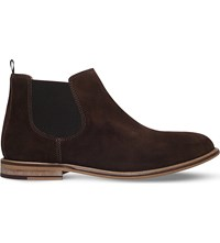 Kg By Kurt Geiger Halstead Pull On Suede Boots Brown