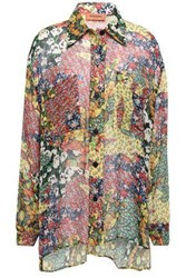Missoni Woman Floral Print Silk Georgette Shirt Pastel Yellow