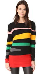 Sonia Rykiel Geometric Sweater Black Multico