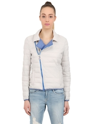 Invicta Quilted Nylon Puffer Jacket Grey Blue