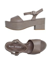 Bryan Blake Footwear Sandals Women Dove Grey