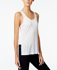 Armani Exchange Scoop Neck Jersey Tank Top Solid White