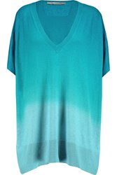 Diane Von Furstenberg Honey Ombre Silk And Cashmere Blend Sweater Blue