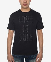 Sean John Men's Love Is Dope Rhinestone T Shirt Created For Macy's Pm Black