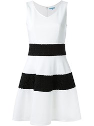 Guild Prime Wide Stripe Textured A Line Skirt White