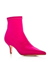 Aqua Women's Rome Stretch Kitten Heel Sock Booties 100 Exclusive Pink