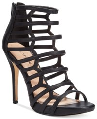 Call It Spring Astausien Caged Dress Sandals Women's Shoes Black