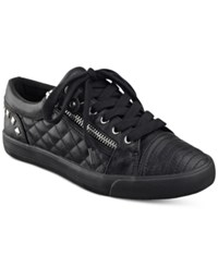 G By Guess Olivia Quilted Lace Up Sneakers Women's Shoes Black