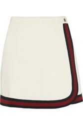 Gucci Stripe Trimmed Jersey Mini Skirt