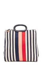 Clare V. Marcelle Bag Navy Blush Poppy