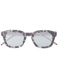 Thom Browne Eyewear Grey And Black Square Frame Sunglasses