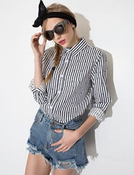 Pixie Market Star Striped Shirt