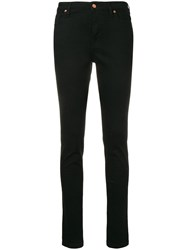 Vivienne Westwood Anglomania Embroidered Logo Skinny Jeans Black