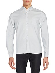 Life After Denim Pinstriped Casual Button Down Shirt Sky Blue