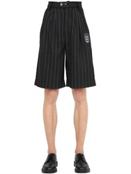 Boy By Boy London Pinstriped Techno Canvas Shorts