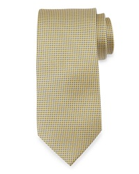 Neiman Marcus Gift Boxed Dot Pattern Neat Tie Gold