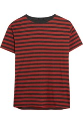 R 13 R13 Striped Cotton T Shirt Red